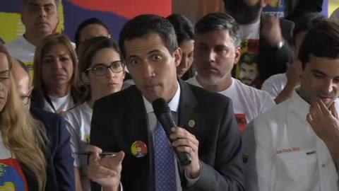 Guaidó espera que México apoye agenda de transición en Venezuela