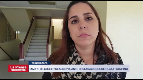 Madre de Carlos Collier reacciona ante declaraciones de Olga Ferrufino