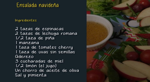 Cómo preparar una ensalada navideña
