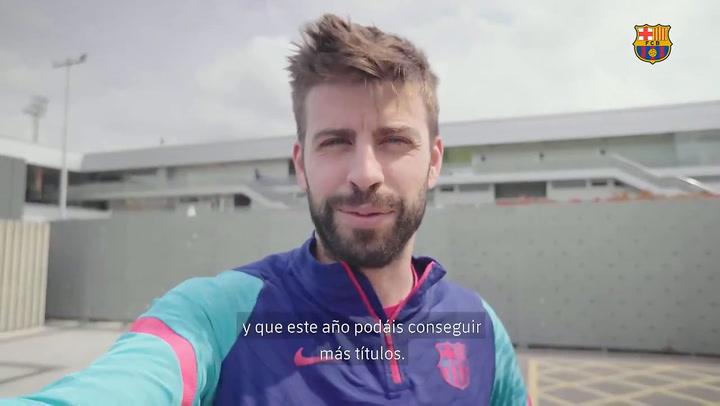 La felicitación de los cracks del Camp Nou al Barça femenino