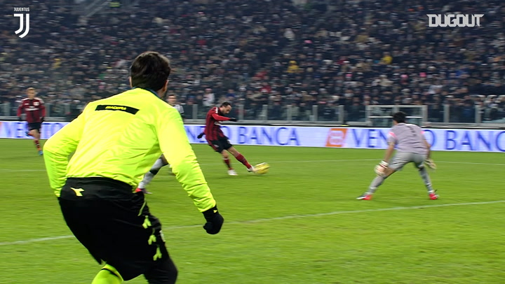 Buffon denies Giampaolo Pazzini with stunning save