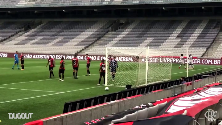 Flamengo's goal from the loss to Athletico-PR in the 2020 Brasileirão Serie A