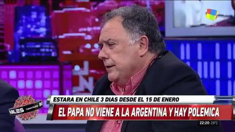 Valdés: El Papa intentó resolver el conflicto entre Macri y Cristina