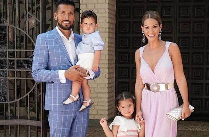 Tamara Gorro y Ezequiel Garay bautizan a su hijo Antonio