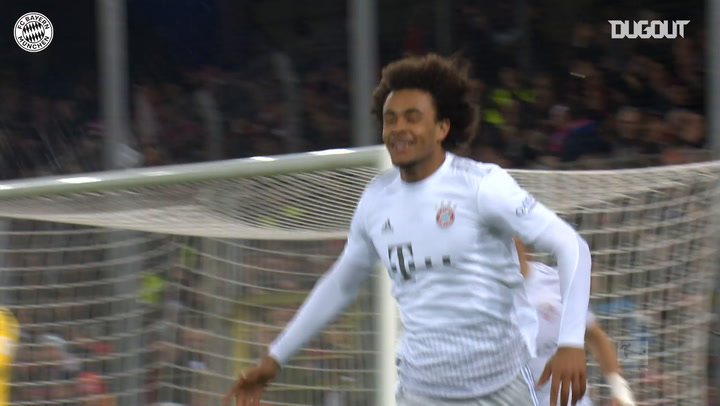 Joshua Zirkzee's first FC Bayern goal