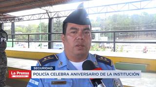Policía nacional celebra aniversario de la institución