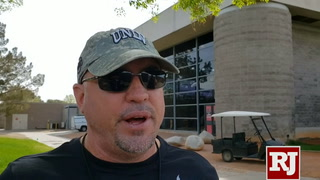 Tony Sanchez on UNLV's practice