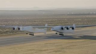 Her er verdens største fly i luften for første gang