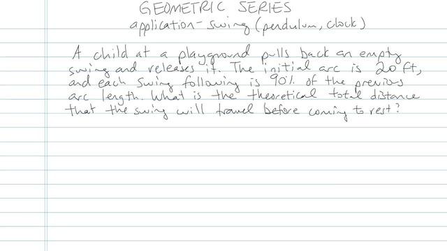 Geometric Series - Problem 6