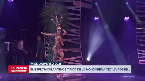 El espectacular traje típico de la hondureña Cecilia Rossell en Miss Universo 2021