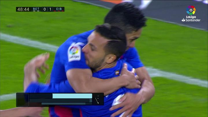 Gol de Muto (0-1) en el Betis 0-2 Eibar