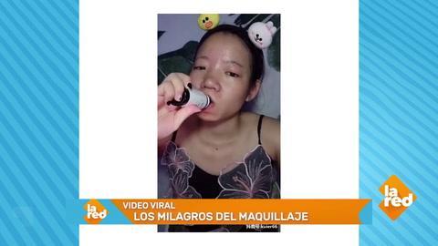 Video viral: La impactante transformación de una joven con maquillaje