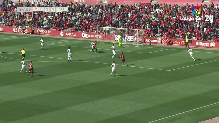 LaLiga 1|2|3: Mallorca - Elche (1-1). Gol de Budimir (1-1)
