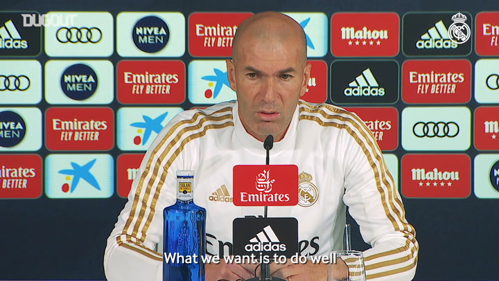 Zinedine Zidane: 'I'm happy to be at the best club in the world'