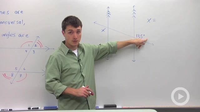 Alternate Exterior Angles - Problem 1