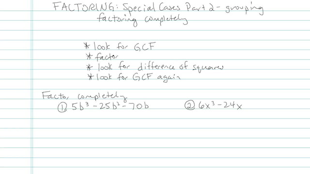Factoring: Special Cases Part II - Problem 4