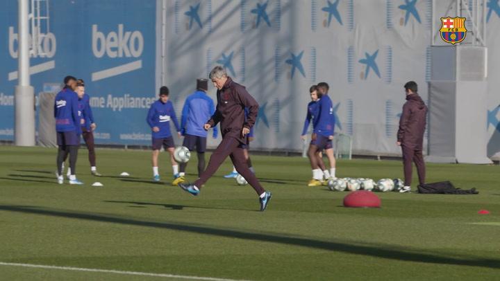 El Barça prepara el partido contra el Granada, el 16 de enero de 2020