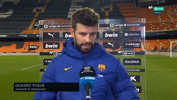 """Piqué: """"Seguimos en la pelea; ahora solo pensamos en el Atlético"""""""