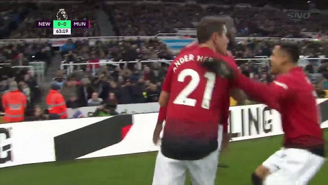 Newcastle 0 - 2 Manchester United