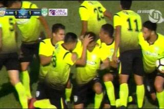 Rembrandt Flores anota el empate 1 - 1 de Real de Minas ante Marathón