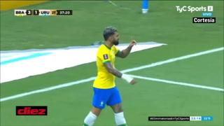 Brasil marca el cuarto gracias a Gabigol y sigue la humillación sobre Uruguay