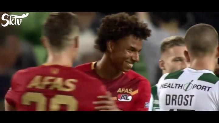 Así juega Calvin Stengs, extremo del AZ Alkmaar