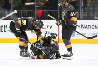 Golden Knights talk OT win, ready for road games