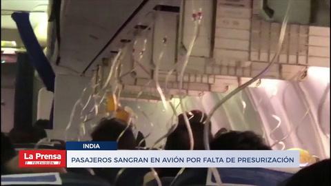 Pasajeros sangran en avión de La India por falta de presurización