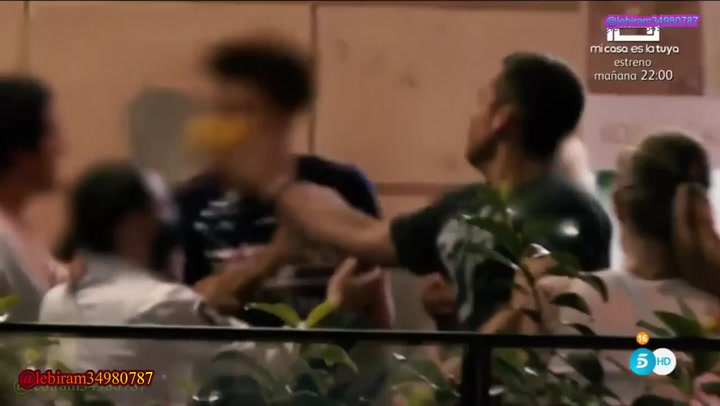 Benji Aparicio y Laura Matamoros, pillados en una pelea con vecinos en Madrid