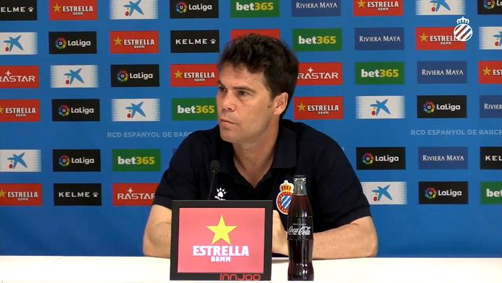 Rubi, en la rueda de prensa previa al partido contra el Alavés