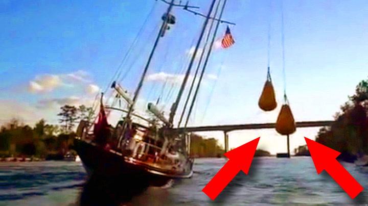 Masten er for høy for broen – men skipperen vet råd