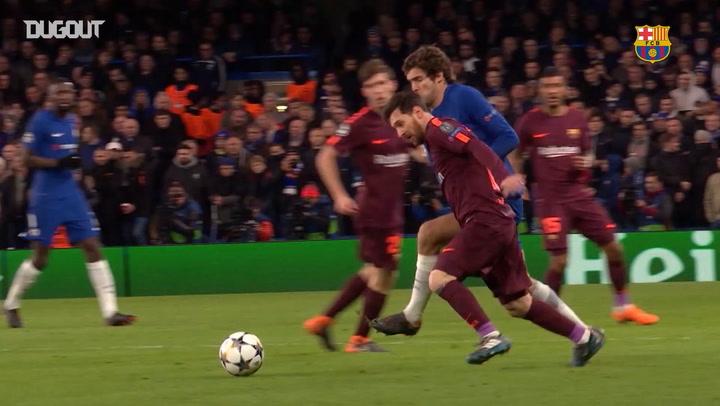 Leo Messi's Goals Against Premier League Teams