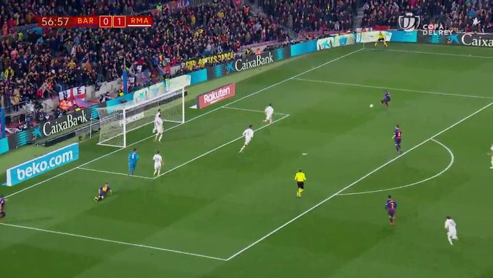 Copa del Rey: Barça-Real Madrid. Gol de Malcom (1-1)