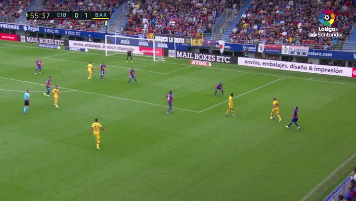 JUGADA DE JONG SD Eibar - FC Barcelona J9