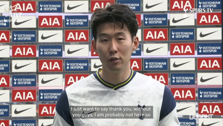 Heung-Min Son's message to fans after his 100th Spurs goal