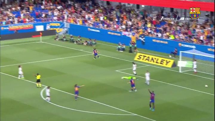 El Barça Femenino aplasta al CF Tacón (9-1)