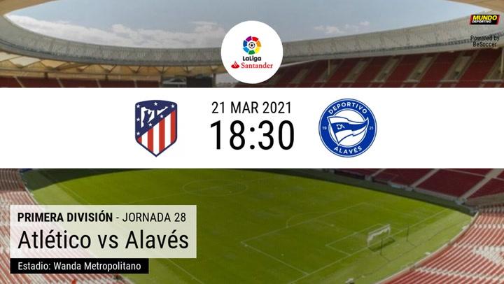 Atlético-Alavés: las estadísticas de la previa
