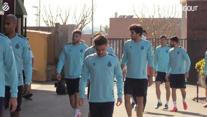Primera sesión de entrenamiento del RCD Espanyol en Navata