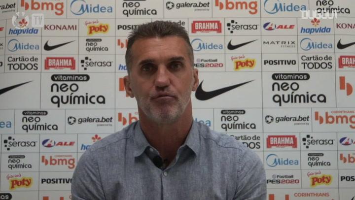 Mancini pede calma na reconstrução e vê Corinthians no caminho certo