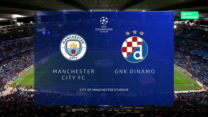 Champions League: Resumen y Goles del Partido Manchester City-Dynamo Zagreb