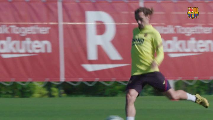 El Barça comienza la semana continuando la puesta a punto