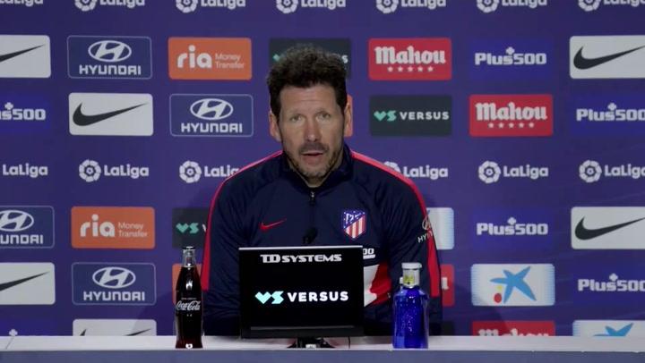 """Diego Simeone: """"No hay ningún tipo de excusa"""""""