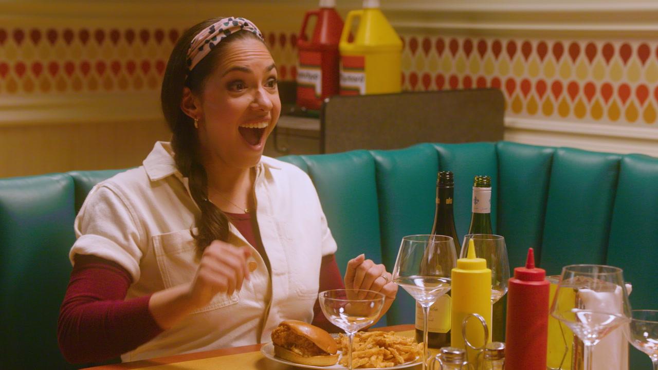 Wine and Cheeseburger: Harley and Lara Pair Popeye's Chicken Sandwich with Wine