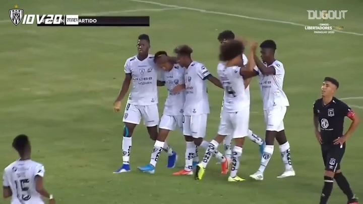 Independiente del Valle's goals in the 2020 U20 Libertadores