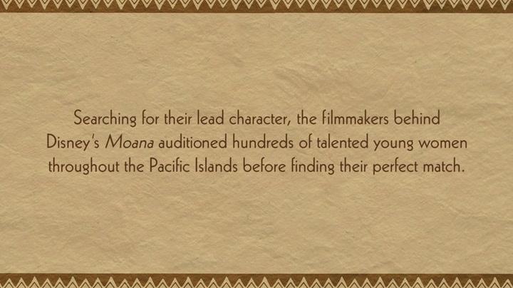 Finding Moana's Voice