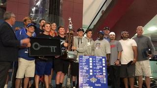 Blue Sox return home after national title