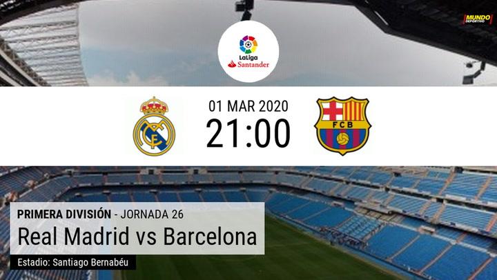 Real Madrid - FC Barcelona: Las estadísticas del Clásico 2020 de la Liga Santander