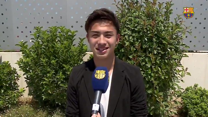 Primeras declaraciones de Hiroki Abe, refuerzo japonés para el Barça B