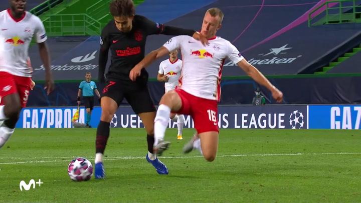 Champions League Leipzig-Atlético. Gol de Joao Felix (1-1)