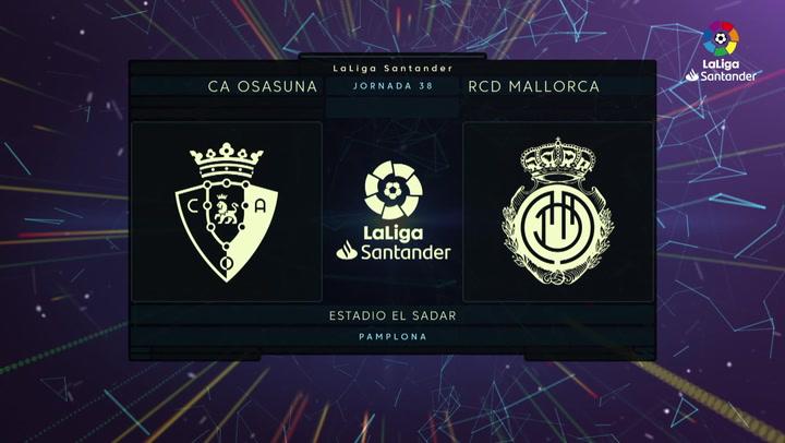 LaLiga (J38): Resumen y goles del Osasuna 2-2 Mallorca